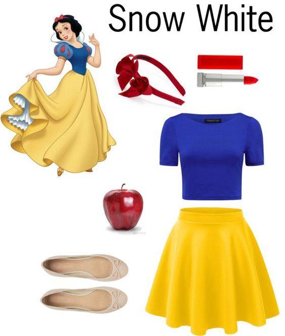 Simple DIY Halloween Costumes - Snow White ,  #costumes #halloween #simple #white