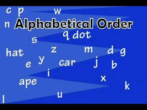 Alphabetical Order Explained; the hows and whys by VocabularySpellingCity! Learn more at https://www.spellingcity.com/Games/alphabetize.html SpellingCity has...