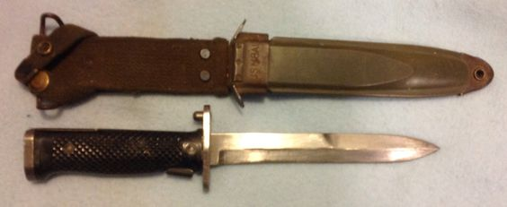 Us M5 Bayonet Aerial With M8a1 Scabbard Post World War
