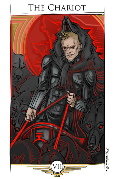 "Sevro as ""The Chariot"" ""Red Rising"" by @pierce-brown):"