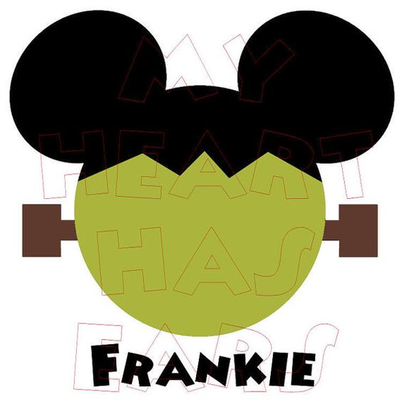 Printable DIY Frankenstein Mickey Mouse digital clip art iron on ...