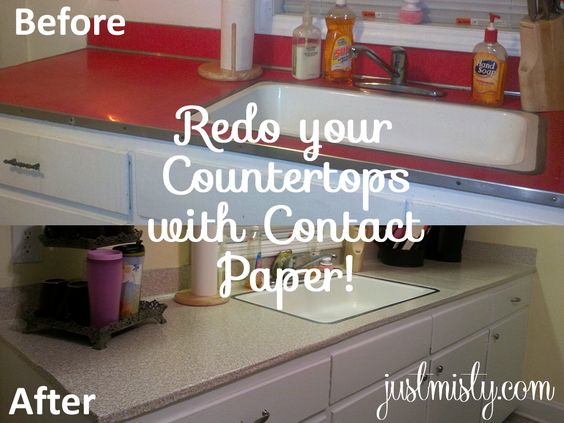 Kitchen diy redo your laminate or formica counter tops with contact paper via http justmisty - Diy redo kitchen countertops ...