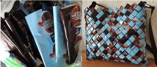 Recycling, Taschen, Flechttasche