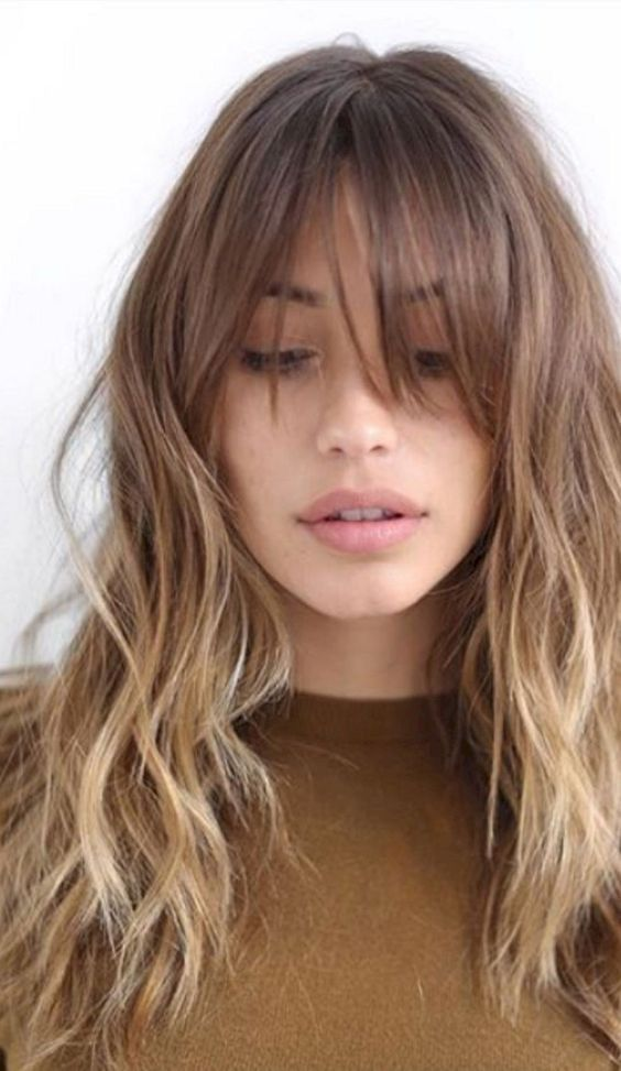 Best 48 Hairstyles With Bangs You Ll Want To Copy Womenhairstyles Long Hair With Bangs Thick Hair Styles Hair Styles