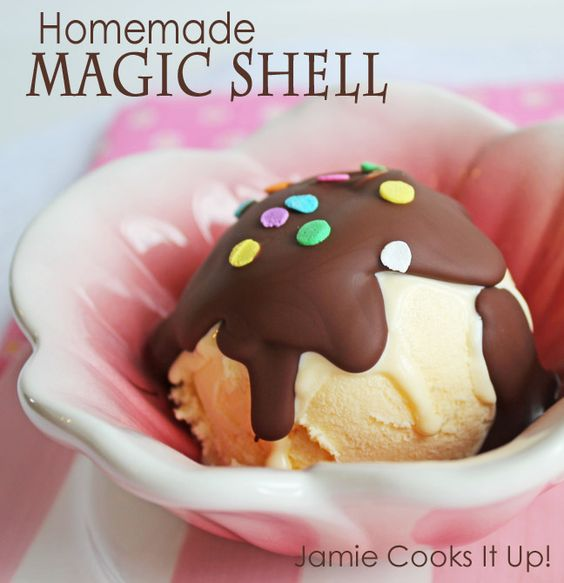 Homemade Magic Shell from Jamie Cooks It Up!