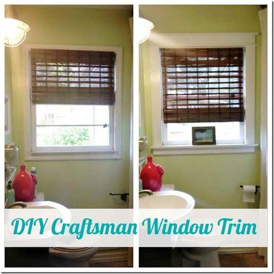 Diy craftsman window trim craftsman elements pinterest for Craftsman interior design elements