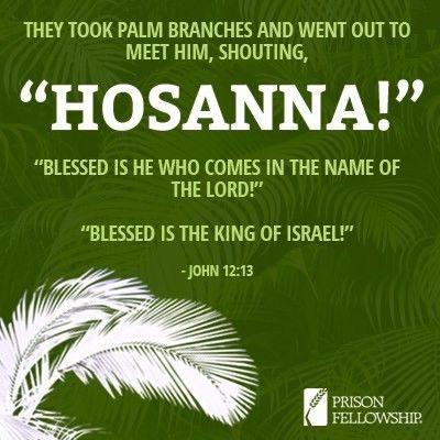 when Jesus entered Jerusalem the crowd shouted Hosanna: