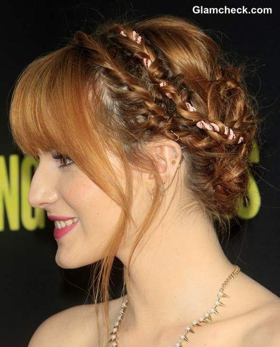 Awe Inspiring Braided Updo Bella Thorne And Updo On Pinterest Hairstyles For Men Maxibearus