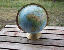 Replogle terrestres et maritimes tournant globe sur métal support bureau ou une table top décor ou utilisation homeschool classe affichage