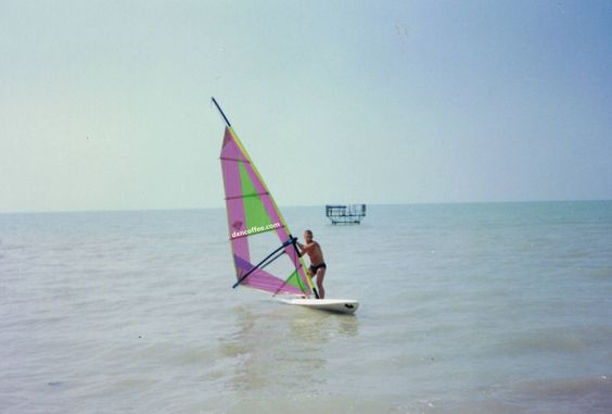 Surfing in Hungary, Lake Balaton.