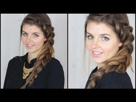 Dutch braid [Frisuren Freitag] - YouTube
