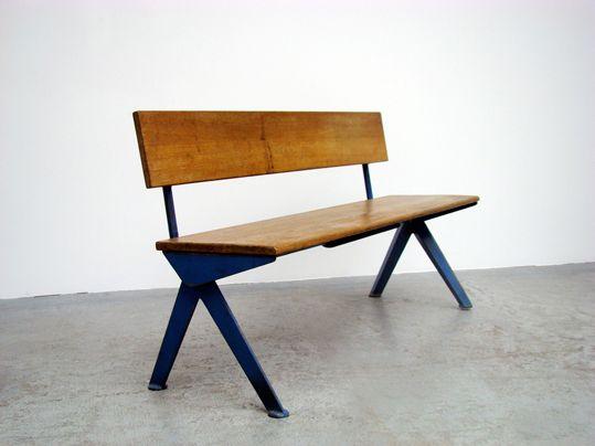 Blue wooden kitchen bench. #furniture #home