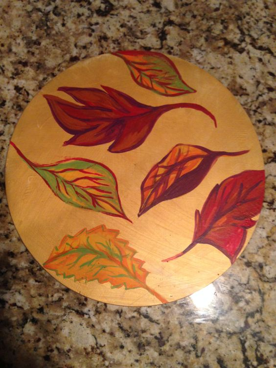 Fall Craft -Lazy Susan DIY Thanksgiving