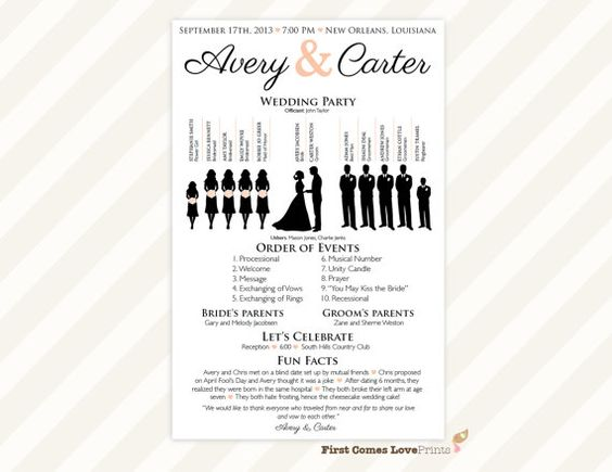 Cores, Casamento and Impressionante on Pinterest - event program template