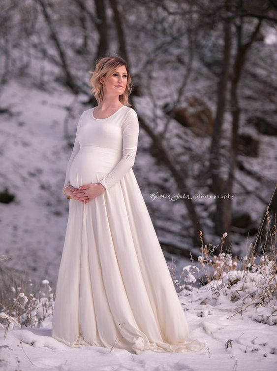Plus Size Maternity Photography Maxi Dress or Casual Wedding Gown ...