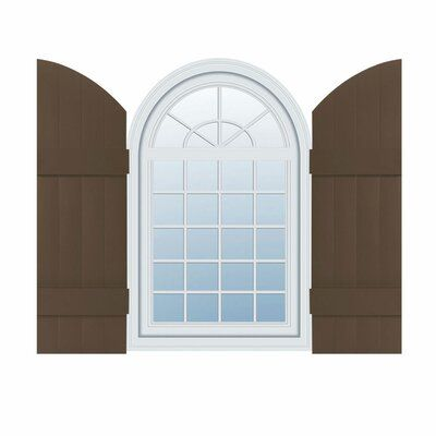 Mid America Mid America Vinyl Custom Four Board Joined W Archtop Board N Batten Shutters Single Color Federal Brown Height 91 In 2020 Board Batten Shutters Exterior Vinyl Shutters Vinyl Shutters