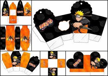 Naruto: Free Printable Boxes.