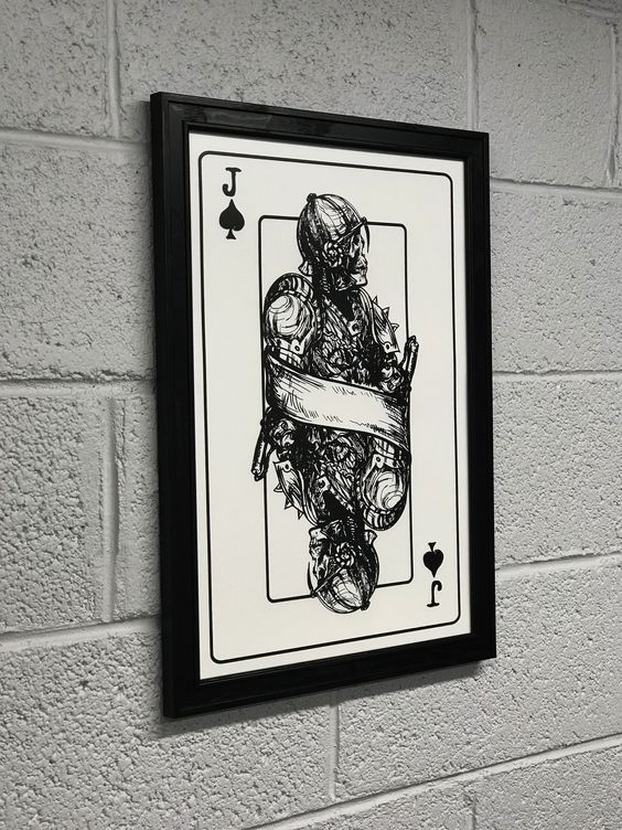 The one eyed Jack art print. Screen printed in deep black ink and available for purchase on our website.