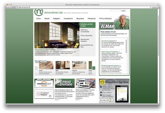 Die neue Startseite von renovieren.de.