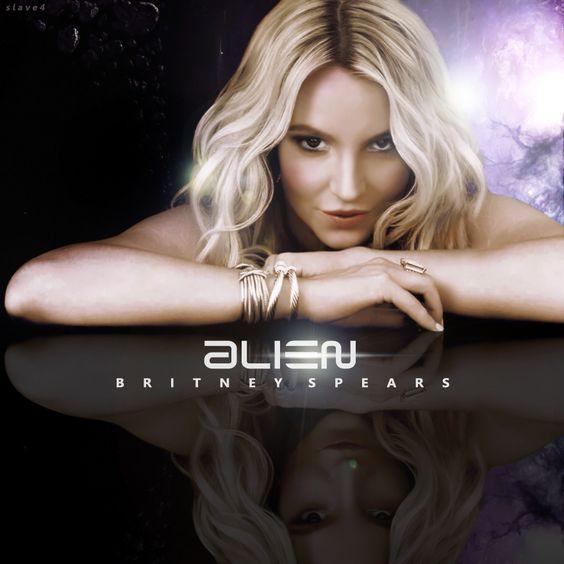 Britney Spears – Alien (single cover art)