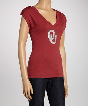 Love this Oklahoma Sooners Rival V-Neck Top - Women by Meesh & Mia on #zulily! #zulilyfinds