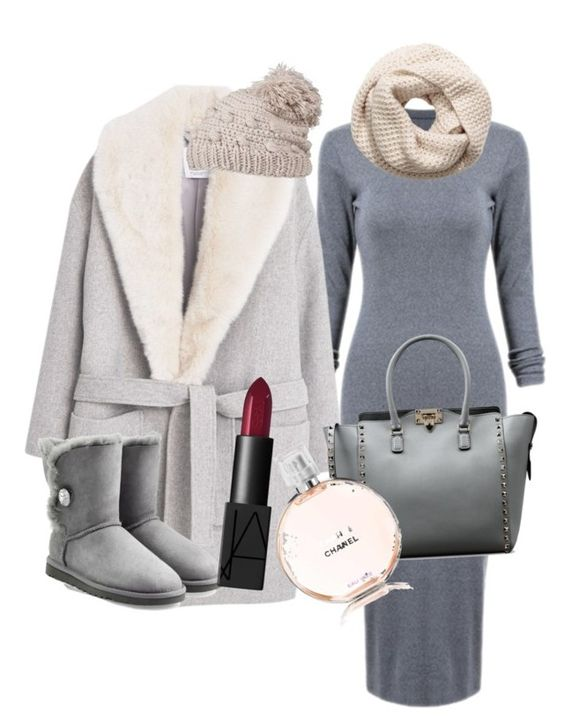 """Untitled #61"" by queenbee1972 on Polyvore featuring MANGO, UGG Australia, Valentino, H&M, prAna and NARS Cosmetics"