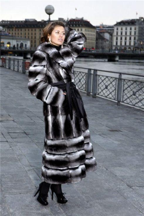 Chinchilla Fur Coat Fashion, How Much Is A Full Length Chinchilla Fur Coat
