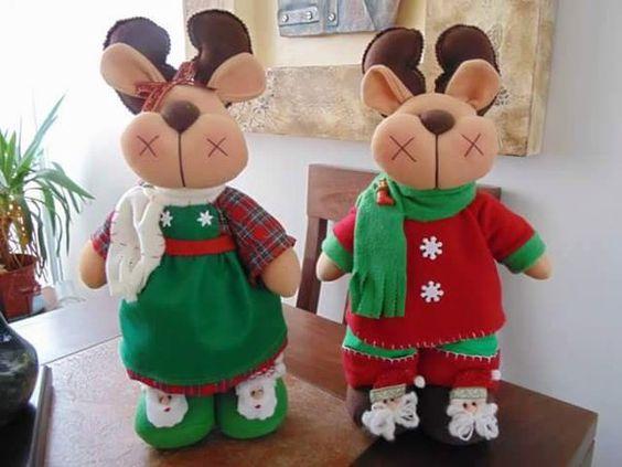 Como hacer renos navide os de fieltro con moldes navidad - Hacer videos navidenos ...