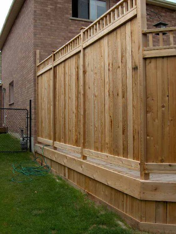 Deck skirting decks and pictures on pinterest for Privacy partitions for decks