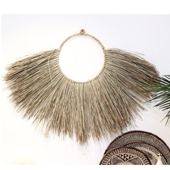Shop Seagrass Wall Hanging by Raw Decor. Seagrass Wall Hanging Hand woven onto a ring for easy hanging. Find only specially curated pieces at The Block Shop that will help transform your house into a home.