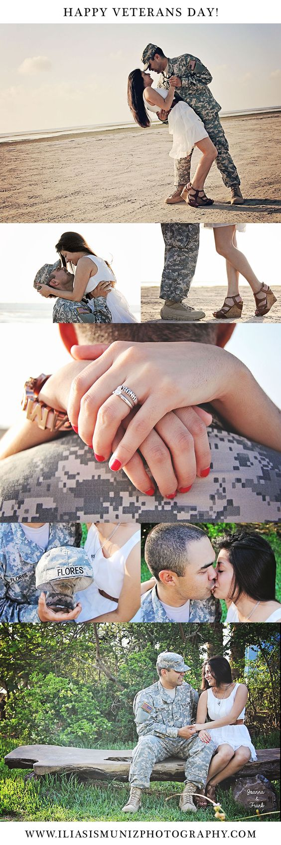 In honor of Veterans Day- Mr. & Mrs. Flores Iliasis Muniz Photography Military engagement session, Military couple posing, couple photography, army couple photography, engagement army photos.
