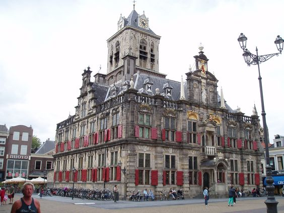 Townhall in Delft in the Netherlands