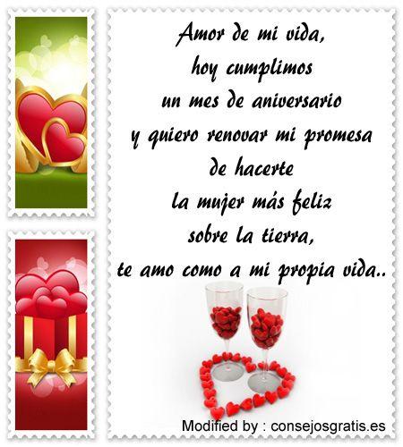 tarjetas con imàgenes de aniversario de novios,tarjetas de aniversario de novios : http://www.consejosgratis.es/frases-para-festejar-el-primer-mes-de-novios/