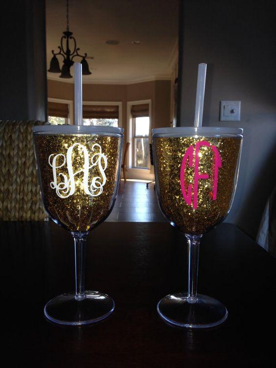 Glitter Wine Glasses Wine Glass And Gold Glitter On Pinterest
