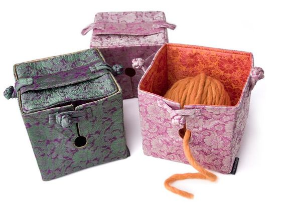 knitting boxes | Alternative to the yarn bowl, the Knit Out Box is easier to store and ...
