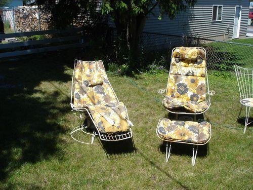 Homecrest Patio Lawn Furniture 10 Pcs Vintage 60s Steel White | EBay