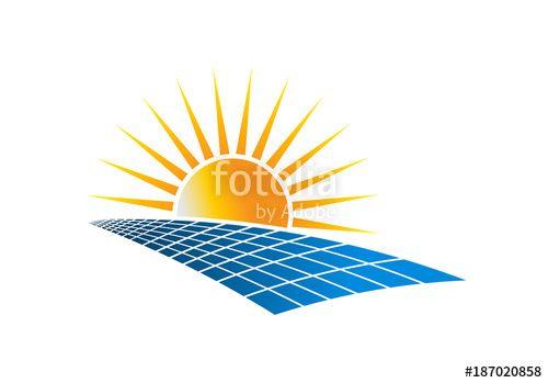 Solar Power Energy Logo Vector Illustration Solar Energy Panel Power Electricity Technology Environment Energy Logo Solar Power Energy Vector Logo