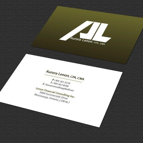 New Business Card For My Wife S Contract Accounting Business
