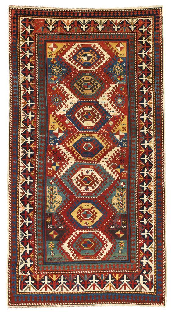 Caucasian Bordjalou Kazak rug, circa 1875