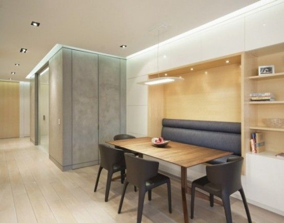 Awesome Upper West Side Combo Apartment : Awesome Upper West Side Combo Apartment With Modern Dining Table And Chair Design