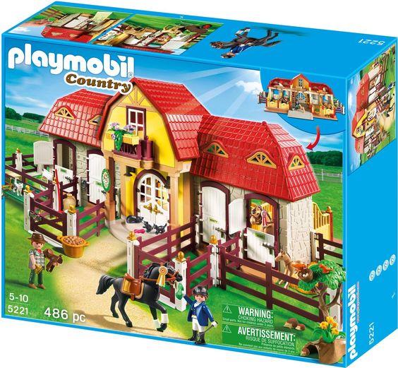 Amazon.de:PLAYMOBIL 5221 - Großer Reiterhof mit Paddocks