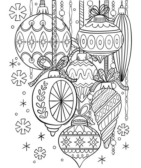 Classic Glass Ornaments Coloring Page Crayola Com Crayola Coloring Pages Coloring Pages Winter Christmas Coloring Pages
