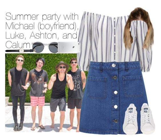 """5SOS"" by outfits41d ❤ liked on Polyvore featuring Spitfire, Forever New, Miss Selfridge, adidas and Daniel Wellington"