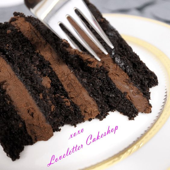 Loveletter Cakeshop's Vegan Double Chocolate Cake (with dairy-free ganache). The recipe was created by the NYC shop's head chef, Brandon Baker.