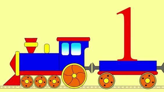 Мультик про паровоз. Учим цифры от 1 до 20 вместе с паровозом