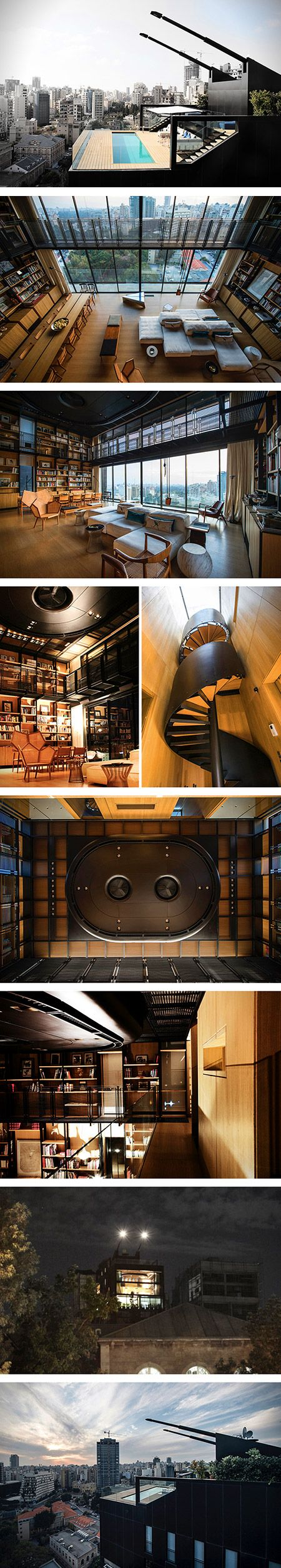Covering badass bachelor pads on a regular basis, it takes a lot for us to get excited when it comes to apartments. Well that's exactly what architect Bernard Khoury was able to do with the amazing NBK Residence.  The famous Lebanese architect has designed a contender for the greatest bachelor pad of all time. Located in Beirut, this 3-level abode spans a massive 4,000 square foot, and includes 5 bedrooms along with 7 bathrooms.: