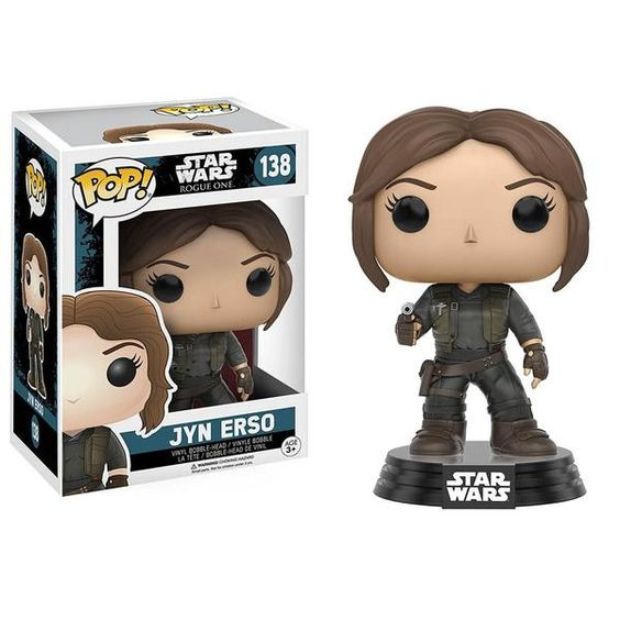 This is the Funko Star Wars Rogue One POP Jyn Erso Bobble Vinyl Figure. It's great to see the Star Wars Rogue One POP's finally in stock.  Jyn Erso looks great: