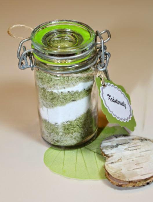 Kräutersalz mit Rezept, Thermomix, Geschenke aus der Küche www - geschenke f r die k che