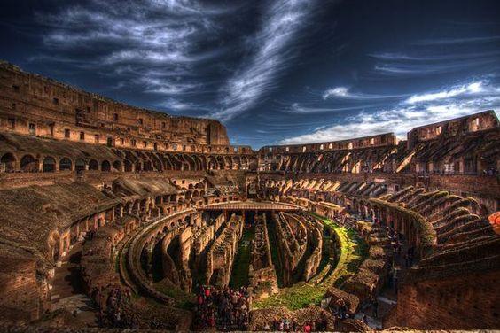 Inside Roman Colosseum -Italy