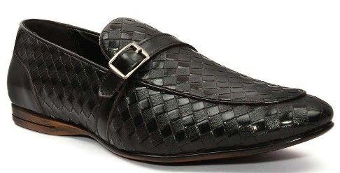 San Frissco Black Loafers for Men